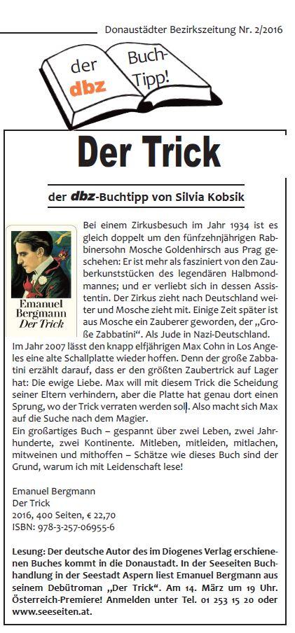 dbz 2016-2 - Seite 10, Der Trick, Emanuel Bergmann