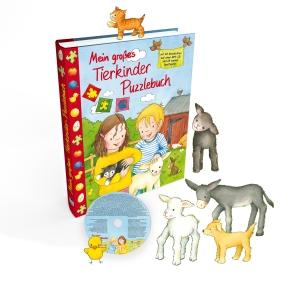 Cover: Mein großes Tierkinder Puzzlebuch