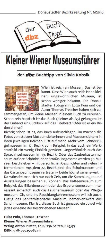dbz 2016-06 Buchtipp Kleiner Wiener Museumsfuehrer