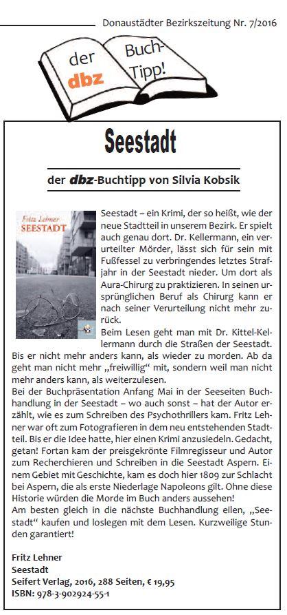 dbz 2016-07 Buchtipp Seestadt