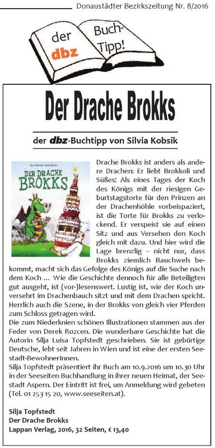 dbz 2016-08 Buchtipp der Drache Brokks
