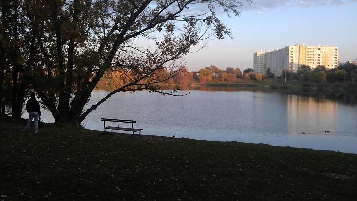 Herbststimmung am Teich Hirschstetten