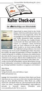 Buchtipp Kalter Check-out, Silvia Hlavin, dbz 2017-02