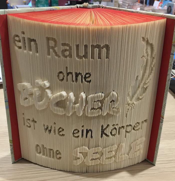 Buch ausgeschnitten